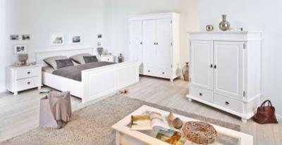 Schlafzimmer Mit Bett 180 X 200 Cm Kiefer Massiv Weiss Lackiert Inter Link Danz Weiß Holz Modern