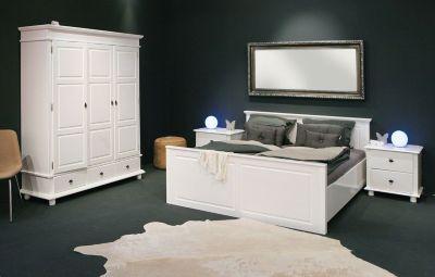 Schlafzimmer Mit Bett 180 X 200 Cm Kiefer Massiv Weiss Lackiert Fsc Zertifiziert Inter Link Danz Weiß Holz Modern