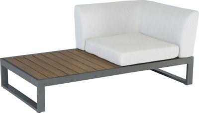 Lounge-Eckelement Acryl naturgrau/ anthrazit