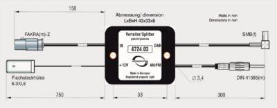 ABB Rundfunkverteiler passiv AM/FM DIN und DAB/DAB+ SMB(f)