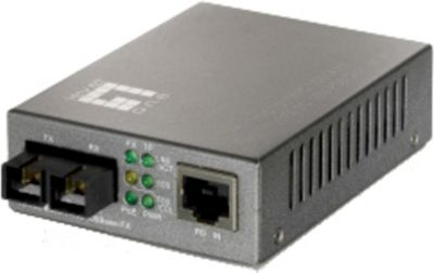 LevelOne POE Converter 100TX to 100FX-SC Multimode