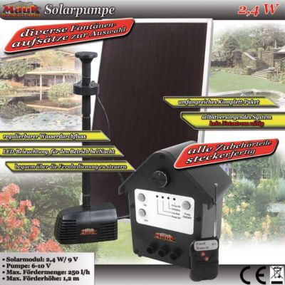 Mauk Solar Teichpumpe Solarpumpe 2,4W