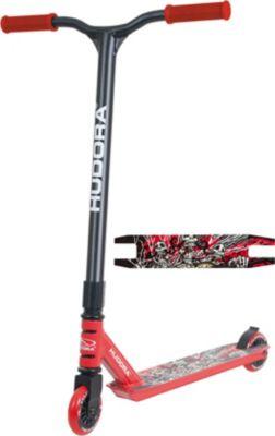 hudora-xq-13-stunt-scooter-freestyle-rot-schwarz