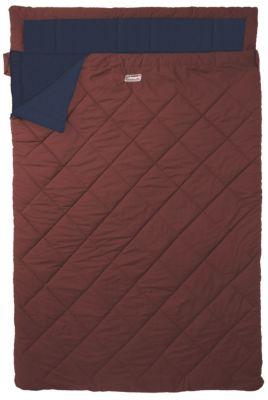 Coleman  Doppel-Deckenschlafsack mit angesetztem Kopfteil