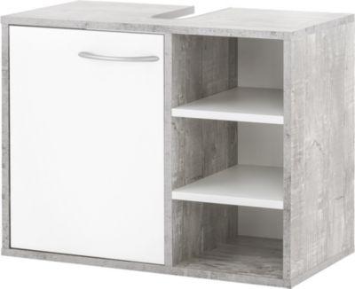 Wilmes Waschbeckenunterschrank in Beton / Weiß