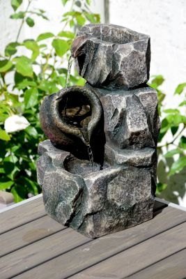 Dobar  96400e Design-Gartenbrunnen mit Amphore