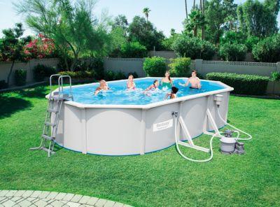 hydrium stahlwand poolset mit sandfilterpumpe und zubeh r bestway heim garten pool spa pools. Black Bedroom Furniture Sets. Home Design Ideas