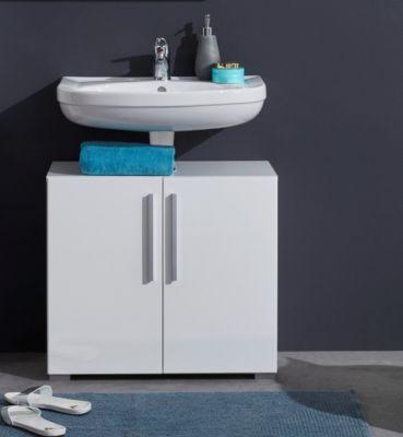 Waschunterschrank in weiss mit Einlegeboden