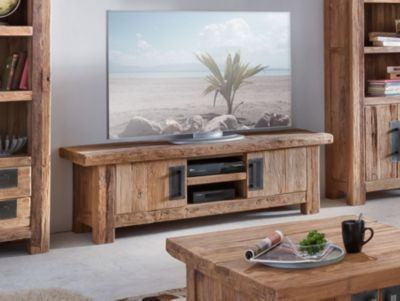 TV Lowboard Teakholz natur recycelt massiv Sit-...
