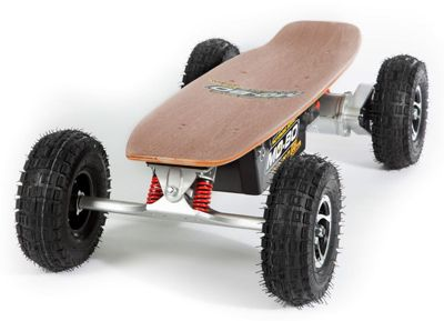"""MO-BO"" Elektro-Skateboard ""Classic Wood"" 800 Watt ALL-TERRAIN, Channel Trucks, 36V, Blei-Gel 14Ah"