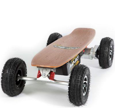 """MO-BO"" Elektro-Skateboard ""Classic Wood"" 800 Watt ALL-TERRAIN, Channel Trucks, 36V, Lithium 22 Ah"
