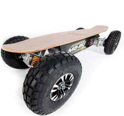 """MO-BO"" Elektro-Skateboard ""Classic Wood"" 1.300 Watt ALL-TERRAIN, 36V, Channel Trucks, Lithium 22 Ah"
