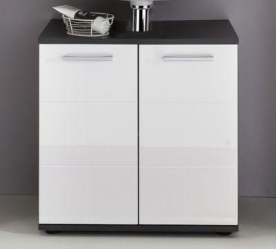 Waschbeckenunterschrank in weiss hochglanz/ grau Trendteam Smart