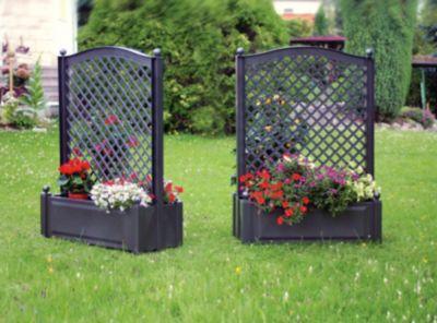 KHW Pflanzkasten mit Zentralspalier 100 cm - 2er-Set, anthrazit   Garten > Pflanzen > Pflanzkästen   KHW