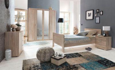 Schlafzimmer 4 Tlg. In Eiche Sägerau Mit Bett 90 X 200 Cm Wimex Nadja