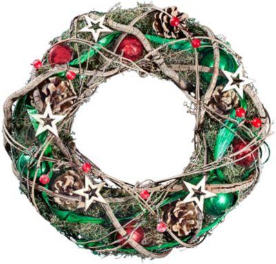 Dekor weihnachtlicher Dekorkranz - natur