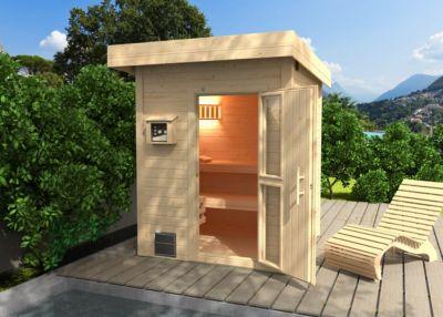 weka MH-Saunahaus Naantali 187x187 cm, o. Ofen | Baumarkt > Bad und Sanitär > Sauna und Zubehör | Massivholz | Weka