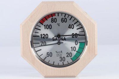 Eliga 83015 Klimamesser Ø 170 mm, 8-eckig | Baumarkt > Heizung und Klima > Klimageräte | Verchromt | Eliga