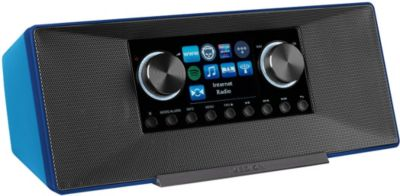® LIFE® P85135 WLAN Internet-Radio, DLNA-/UPnP, DAB+ & FM/UKW, LAN, USB, AUX, 2x6 W RMS, blau
