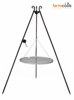 Viking Schwenkgrill mit Kurbel und 70 cm Durchmesser Rohstahlrost