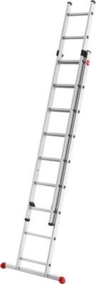 Hailo ProfiStep duo Alu-Schiebeleiter, 2-teilig mit 2 x 9 Sprossen | Baumarkt > Leitern und Treppen > Schiebeleiter | Hailo