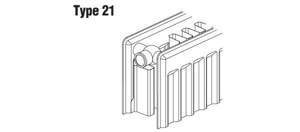 Heizung versch Ausführungen Sanicomfort Flachheizkörper Typ 21 EKE H 40 cm
