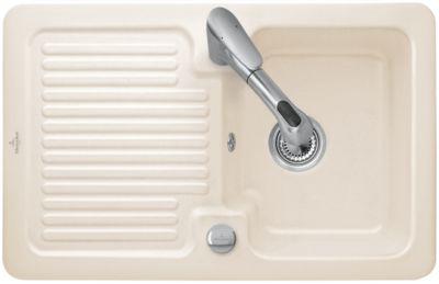Villeroy & Boch Condor Einbauspüle 45 inkl. Ablaufgarnitur & Excenterbetätigung, Creme | Küche und Esszimmer > Spülen | Keramik | Villeroy_Boch