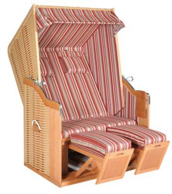 SunnySmart Strandkorb Rustikal 50 Plus, rot-weiß | Garten > Strandkörbe | Rustikal | Sunny Smart