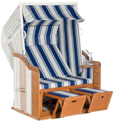 SunnySmart Strandkorb Rustikal 250 Basic, Blau-grau-weiß | Garten > Strandkörbe | Rustikal | Sunny Smart