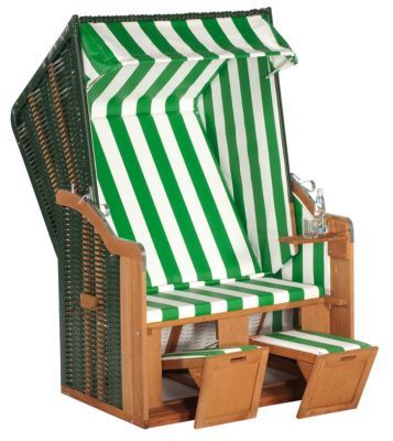 SunnySmart Strandkorb 50 Basic, Grün-weiß   Garten > Strandkörbe > Strandkörbe   Rustikal   Sunny Smart