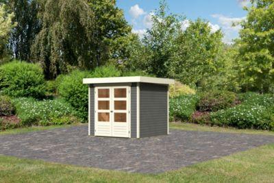 Woodfeeling Askola 2 Gartenhaus, terragrau | Garten > Gartenhäuser | Woodfeeling