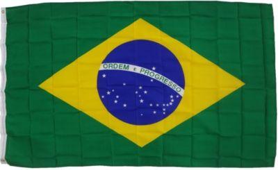 XXL Flagge Brasilien 250 x 150 cm Fahne mit 3 Ö...