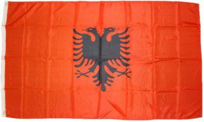 XXL Flagge Albanien 250 x 150 cm Fahne mit 3 Ös...
