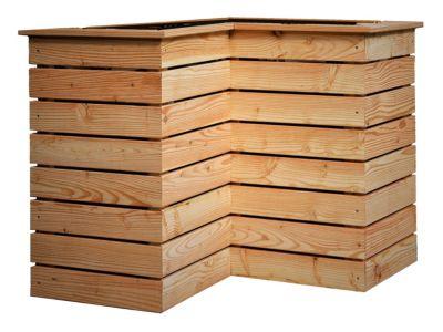 Hochbeet Aus Larchenholz Im Winkel Naturbelassen Gartenjunkie Portal