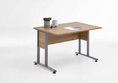 Schreibtisch 120 x 80 Alteiche Nachbildung, mit Metallgestell FMD aivlac