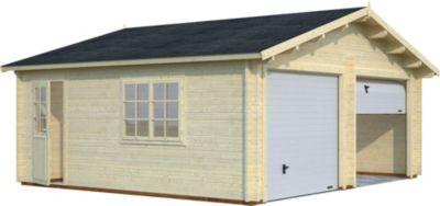 Palmako Roger 28,4 m² Garage mit Sektionaltor | Baumarkt > Garagen und Carports > Garagen | Palmako