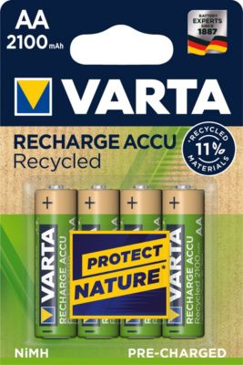 VARTA Recharge Akku Recycled AA Mignon 4er 2100mAh