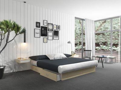 Silversleep Wasserbett mit Stauraumsockel, 200 x 200 cm, Mono - System, ahorn, mittel beruhigt | Schlafzimmer > Betten > Wasserbetten | Silversleep