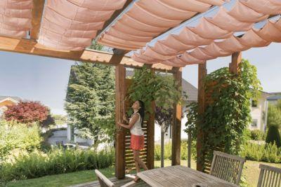 Windhager Seilspann-Sonnensegel 420 x 140 cm, terracotta | Garten > Sonnenschirme und Markisen > Sonnensegel | Polyester | Windhager