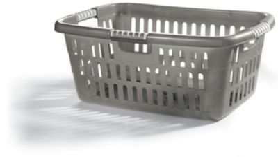 Priva Wäschekorb - metallic-grau
