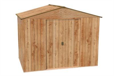 Tepro Metallgerätehaus Titan Holz-Dekor Eiche 8x6 | Garten > Gerätehäuser | Holz - Eiche | Tepro