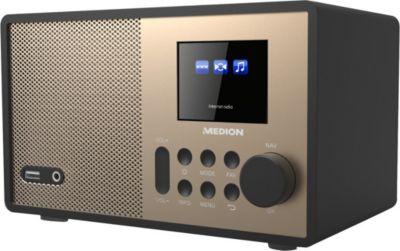 ® E85059 WLAN Internet-Radio, Holzgehäuse, 6,1 cm/2,4´´ TFT-Display, DLNA/UPNP, FM/UKW, 1x 10 W RMS