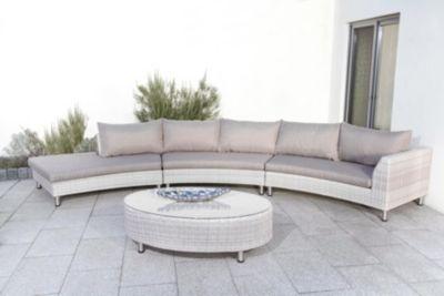 Weiss Hellgrau Grau Aluminium Kunststoff Loungemöbel Garten Online