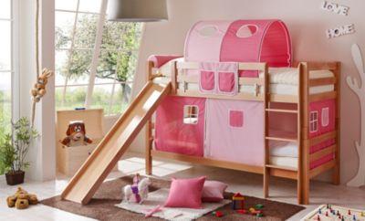 ticaa-etagenbett-mit-rutsche-lupo-buche-massiv-natur-rosa-pink-3-teilig-