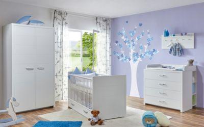 Ticaa Babyzimmer ´´Mia´´ 5-tlg. weiß 2-trg.