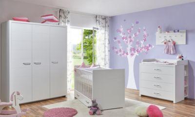 Ticaa Babyzimmer ´´Mia´´ 5-tlg. weiß 3-trg.