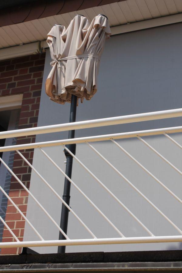 Leco Balkon-Ovalschirm natur oder anthrazit