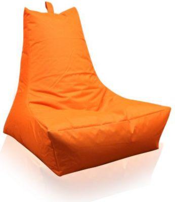 Sitzsack Lounge-Sessel, orange (Outdoorfähig)