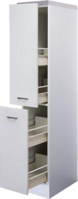 Flex-Well Demi-Apothekerschrank Wito 30 cm | Küche und Esszimmer > Küchenschränke > Apothekerschränke | Weiß | Flex-Well