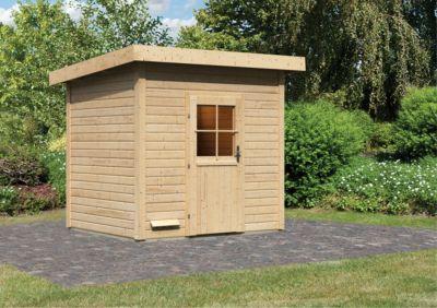 Karibu Saunahaus Pokka, inkl. Sauna-Zubehör-Set PLUS | Baumarkt > Bad und Sanitär | Fichte | Karibu